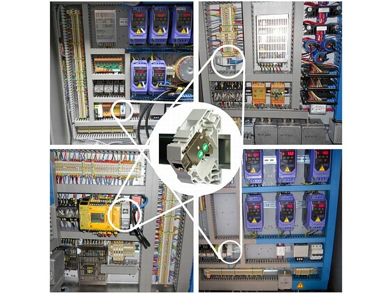 DIN rail connectoren in panel boards